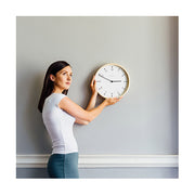Modern Scandi Wall Clock - Small Minimalist Plywood - Newgate Mr Clarke MRC159PLY28 (lifestyle) 1 copy