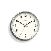 Modern Silver Wall Clock - Jones Clocks - Penny JPEN52S