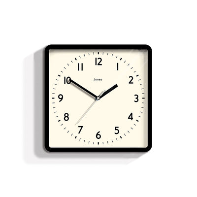 Modern Square Black Wall Clock - Jones Clocks Shack JSHAC691K
