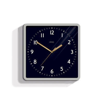 Modern Square Wall Clock - Jones Clocks Shack JSHAC702OGY - front