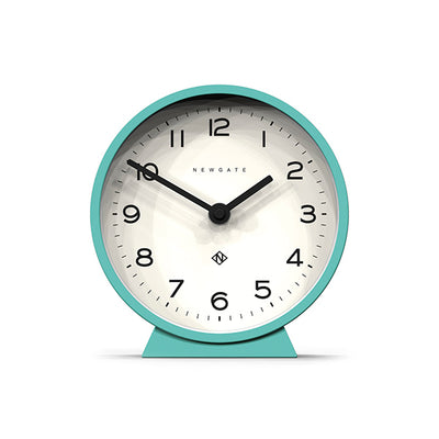 Modern Turquoise Mantel Clock - Colourful Contemporary - Newgate MMAN678AM