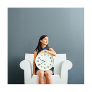 Modern Wall Clock - Bright Colour Yellow - Newgate Echo NUMTHR129CHY (lifestyle) 1 copy