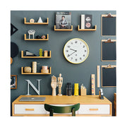 Modern Wall Clock - Bright Colour Yellow - Newgate Echo NUMTHR129CHY (room decor) 1 copy