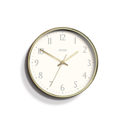 Modern Wall Clock Gold Contemporary - Jones Clocks Penny JPEN282PB