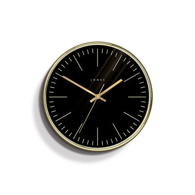 Modern Wall Clock Gold Contemporary - Jones Clocks Penny JPEN48PB