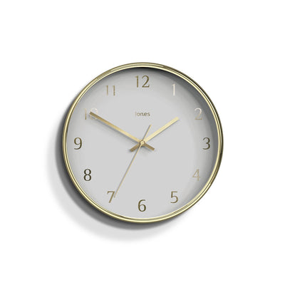 Modern Wall Clock Gold Contemporary - Jones Clocks Penny JPEN721PB
