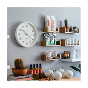 Modern White Wall Clock - Minimalist - Newgate Echo NUMTHR129PW (homeware) 1 copy