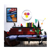 Modern White Wall Clock - Multicolour Minimalist Subdial - Newgate Butterfly Wing Triptick TRIP686PW style