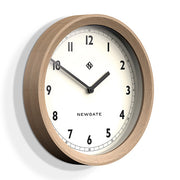 Modern Wood Wall Clock – Solid Oak – Newgate – General GEN648LO (skew)