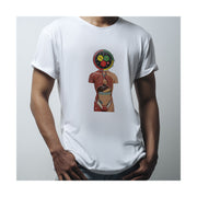 NEWGATE WORLD - WHITE crewneck TSHIRT - G6 - Anatomical Watch Head t-shirt - men