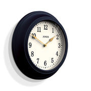 Navy Blue Wall Clock - Jones Clocks Cocktail JCOCKT118PEBL - skew
