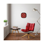 Red Black Wall Clock Modern Square - Space Hotel Moontick SH-MOON-R1-K lifestyle