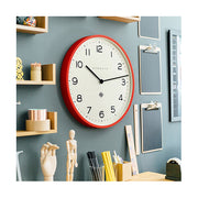 Red Kitchen Clock - Large Modern Wall Clock - Newgate Echo NUMONE149FER (homeware) 1 copy