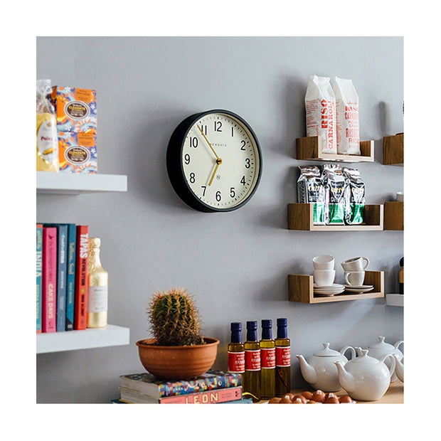 Small Grey Wall Clock - Mid-Century Modern - Newgate Master Edwards LUGG371BGY (homeware) 1 copy