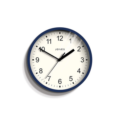 Small Indigo Navy Blue Wall Clock - Jones Clocks Spin JSPIN136IBL