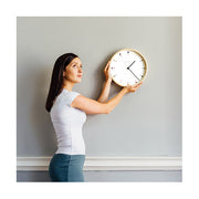 Small Modern Wall Clock - Minimalist Plywood - Newgate Mr Clarke MRC161PLY28 (lifestyle) 1 copy