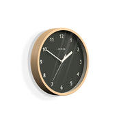 Small Plywood Wall Clock Modern Grey Dial - Jones Clocks Spin JSPIN630PLY - skew