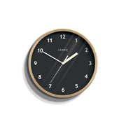 Small Plywood Wall Clock Modern Grey Dial - Jones Clocks Spin JSPIN630PLY - front