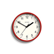 Small Red Wall Clock Contemporary - Jones Clocks Spin JSPIN136R