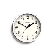 Small White Wall Clock Contemporary - Jones Clocks Spin JSPIN136PW