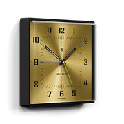 Square Wall Clock - Mid-Century Modern Gold Brass - Newgate Box Office BOXOF686CK skew