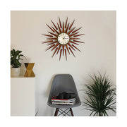 Sunburst Wall Clock - Mid-Century Wooden Star Rays - Newgate Pluto PLUTOG (home accessories) 1 copy