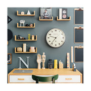 Modern Metal Wall Clock - Silver Steel - Silent 'No Tick' - Newgate Chrysler WAT406BSS (home accessories) 1 copy
