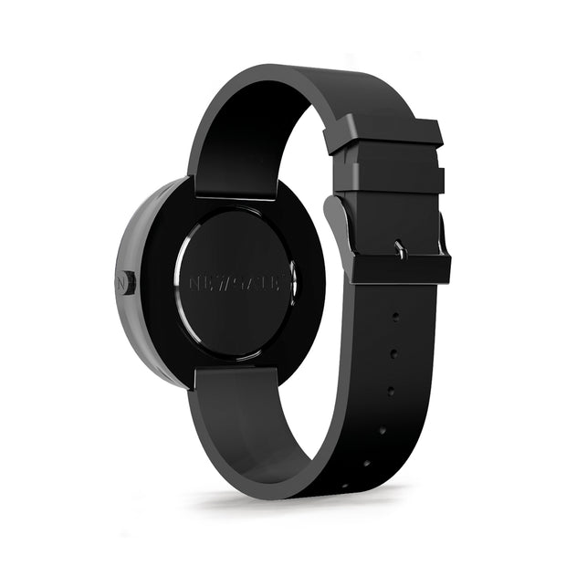Oversized Retro Watch Black Silicone - black