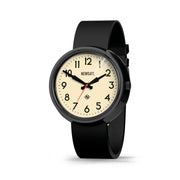 Oversized Retro Watch Black Silicone - skew