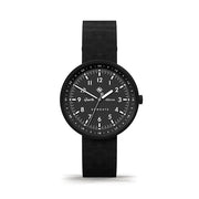 Men's Black-on-Black Aviator Watch - Canvas Strap - Modern Contemporary British Design - Newgate Torpedo WWMDLNRK048LK (front)