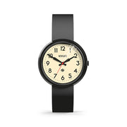 Retro Black Watch - Easy-Read-Dial Silicone Strap - Men's Women's -British Design - Newgate Electric WWMELCK011SK (front)