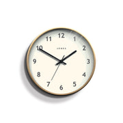 Wood-Effect Wall Clock Modern Minimal - Jones Clocks Studio JPEN105PLY - front