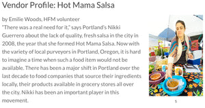 Hollywood Farmers Market Spotlight on Hot Mama Salsa