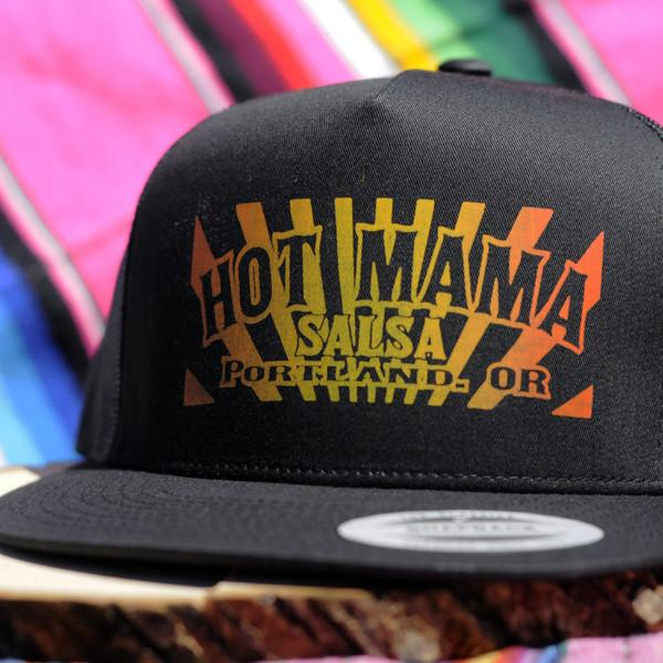 Hot Mama Salsa Trucker Hat - Black