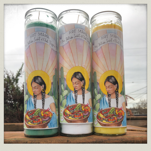 The Patron Saint of Chili Peppers Prayer Candle