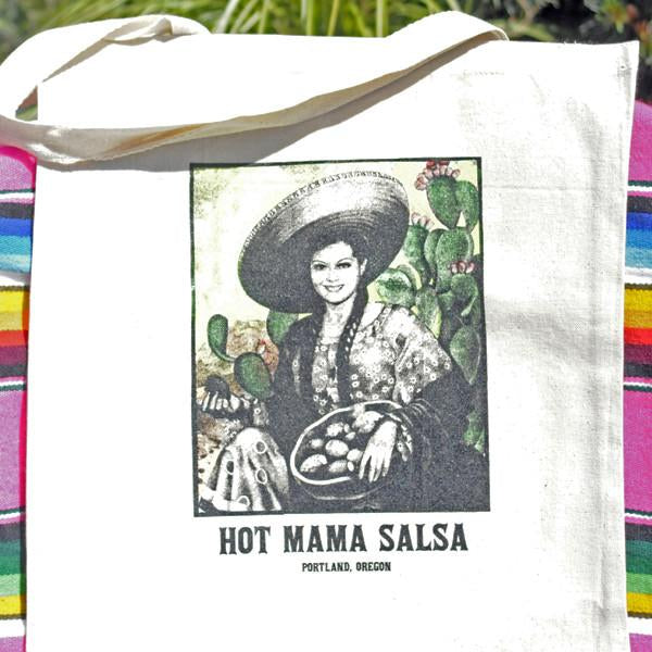 Hot Mama Salsa Tote Bag - White