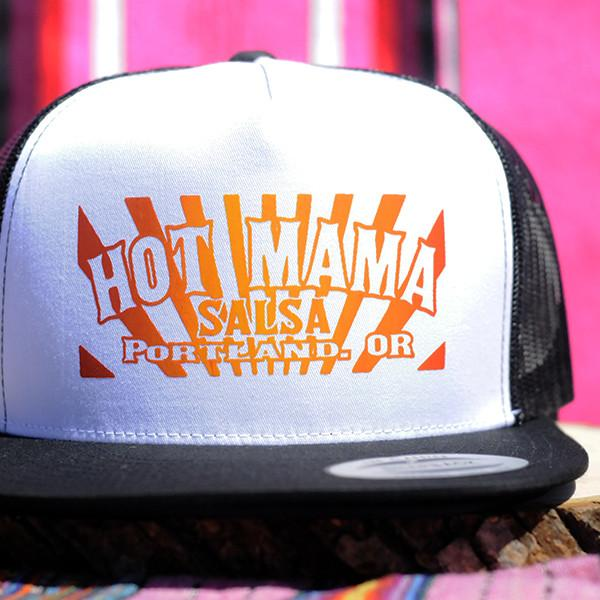 Hot Mama Salsa Trucker Hat - White