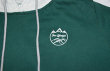 Load image into Gallery viewer, Winter Hoodie Grey & Green