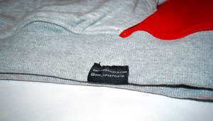 Two Tone Grey & Red Hoodie