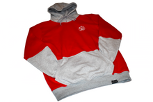 Load image into Gallery viewer, Two Tone Grey & Red Hoodie
