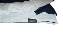 Load image into Gallery viewer, Two Tone Grey & Navy Hoodie