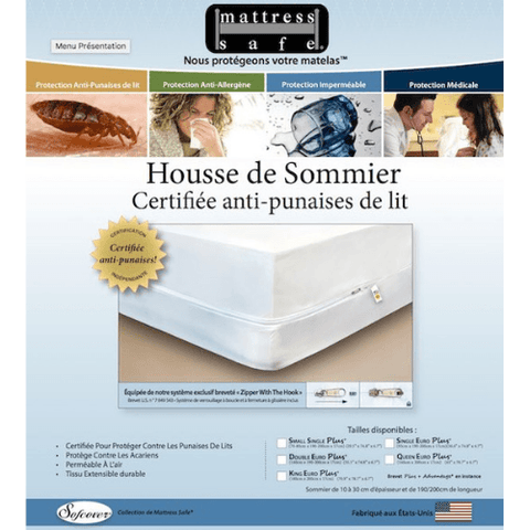Housse anti punaise de lit sommier Mattress Safe par Safelit