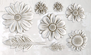IOD Iron Orchid Decor Mould He Loves Me Dasies, Daisy