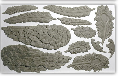 IOD Iron Orchid Decor Mould Mold Wings and Feathers