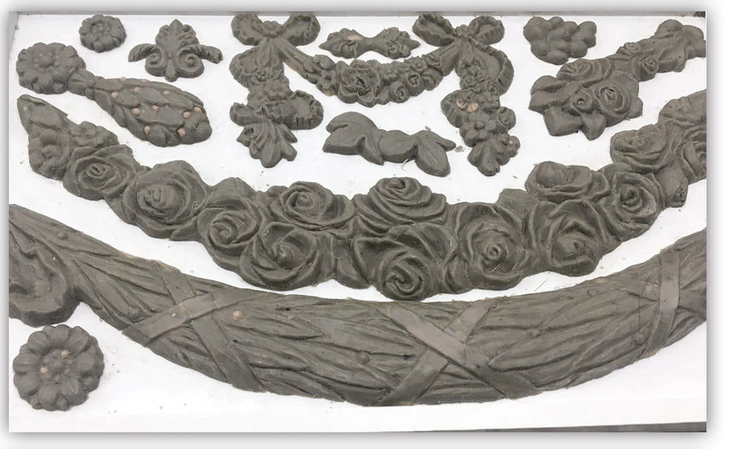 Iron Orchid Designs Mould Mold Floral Swags