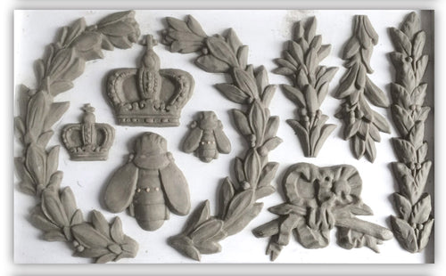 IOD Iron Orchid Decor Mould Mold Laurel with Bee