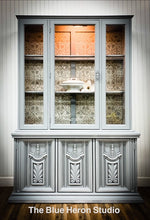 Load image into Gallery viewer, Grey China Cabinet with Old World Details