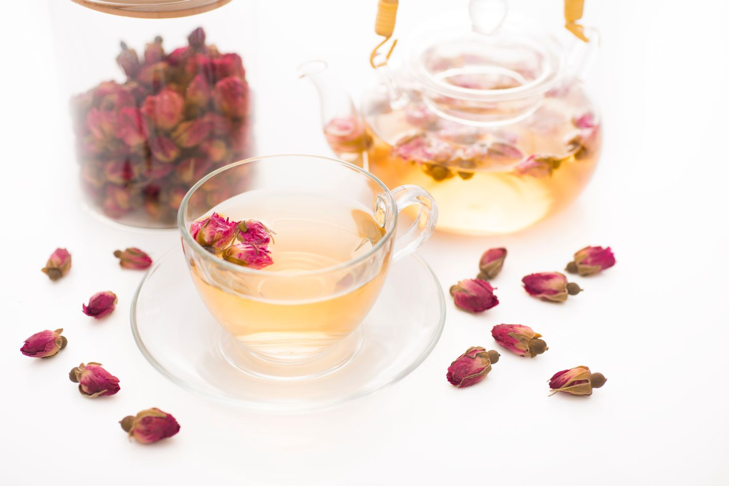 Renewing Rosebud: Floral Tisane (Glass jar)