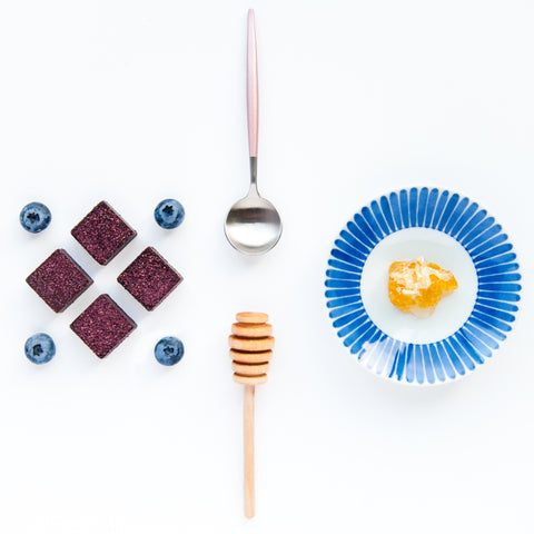 Feel Good Chocolates - Blueberry + Honeycomb Superfood Dark Chocolate