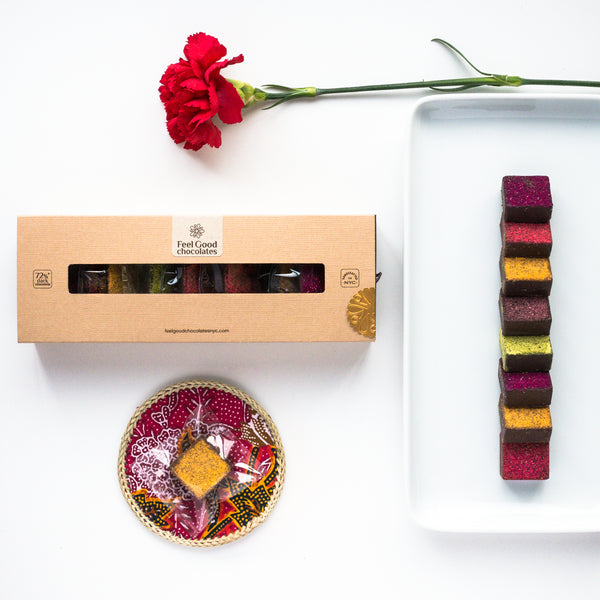 Feel Good Chocolates - Magnificent Gift Box Superfood Dark Chocolate